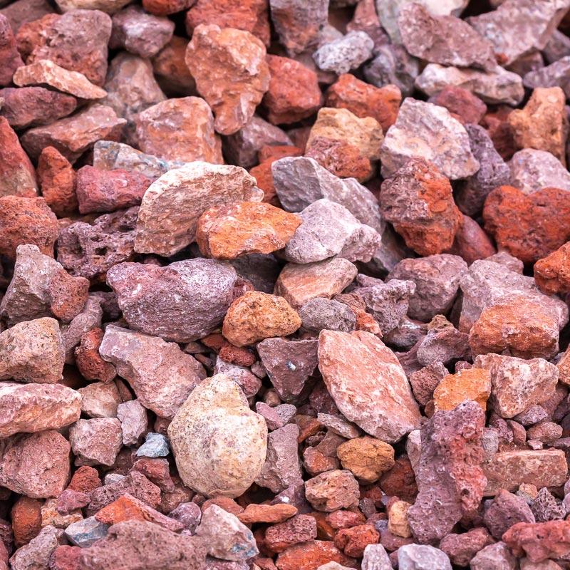 Red Lava Rock Gravel Landscape Design Supply Hardscapes Waterscapes Natural Stone Ponds Earth Source Jacksonville Fl
